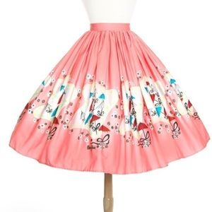 Pinup Couture Bella Skirt in Mary Blair Umbrella
